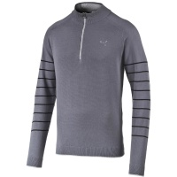 Puma Herren 1/4 Zip Novelty Sweater (folkstone gray-black)