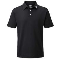 FootJoy Stretch-Pikée Poloshirt (schwarz)