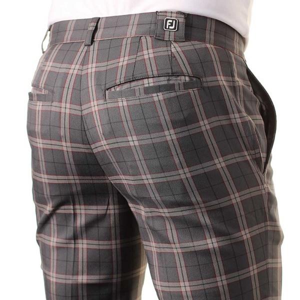 FootJoy Performance Plaid Athletic Trouser - anthrazit/grey/wine