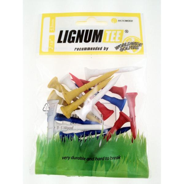 "Lignum Tees 53mm (2 1/8"") 16 Stk. (bunt)"