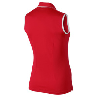Nike Victory colorblock sleeveless Polo (red/white)