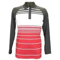 Alberto John Drycomfort Langarm Polo (grey/white/red)