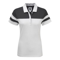 FootJoy Smooth Pique Colour Block Polo (white/grey)
