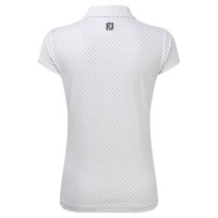 FootJoy Printed Dot Smooth Pique Polo (white/grey)