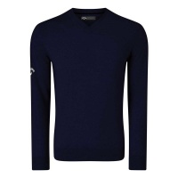 Callaway Ribbed V-Neck Merino Sweater (navy)