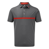 FootJoy Engineered Nailhead Jacquard Polo (navy/scarlet)