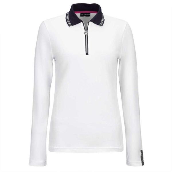 Golfino PT Revolution Zip Polo UV Piqué (white)