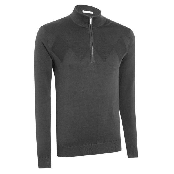 Asworth Chest Diamond Wind Sweater (dark grey)