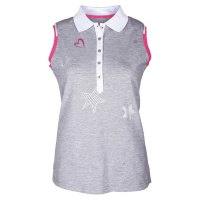 "girls golf Polo sleeveless ""star love"" (grey)"