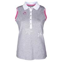 "girls golf Polo sleeveless ""star love"" (grey)"