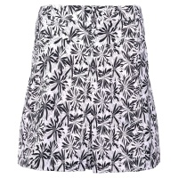 "girls golf Skort ""black flower"" (white/black)"
