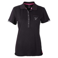 "girls golf Polo ""heart shape"" (black)"