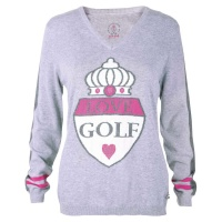 "girls golf Pullover ""giant crest"" (grey)"