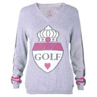 "girls golf Pullover ""giant crest"" (grey)"