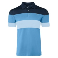 KJUS Luan Colorblock Polo (aqua splash/salute)