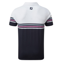 FootJoy Stretch-Pique colour block (white/navy)