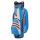 Bennington Grid-Organizer 14-Way Waterproof Cartbag (cobalt/white/red)