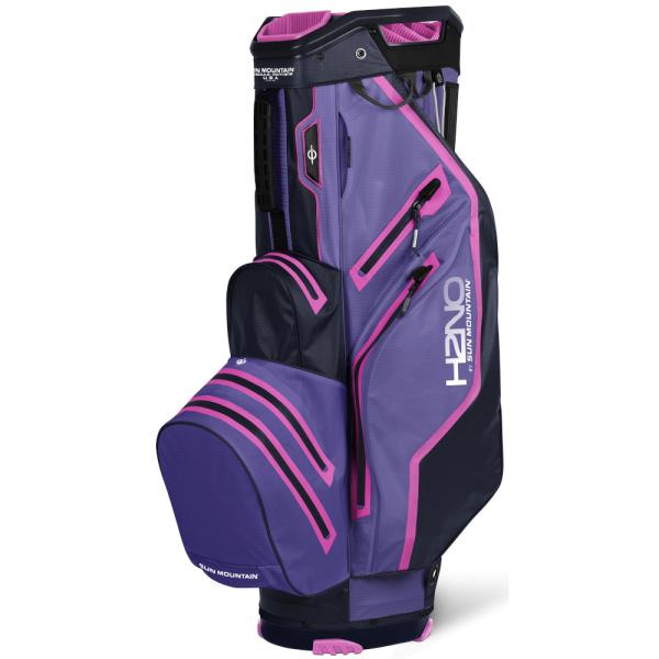 Sun Mountain H2NO Lite Waterproof Cartbag (purple/navy/fuchsia)