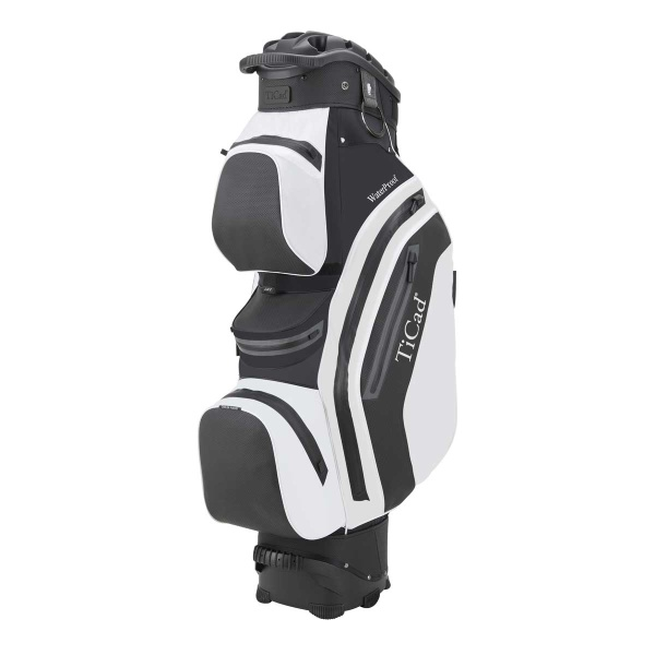 TiCad QO Premium 14 Hole Waterproof Cartbag (black/white)