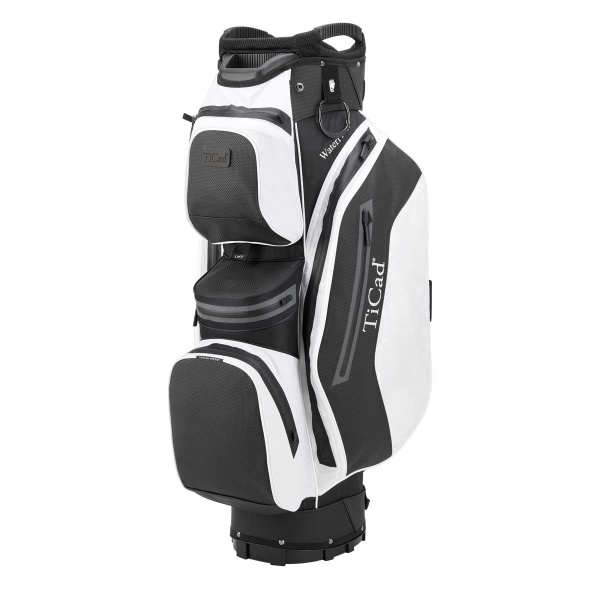 TiCad FO Premium 14 Hole Waterproof Cartbag (black/white)