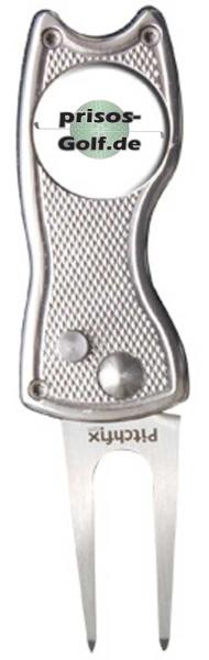 """Pitchfix """"Classic"""" aus Metall mit Logoballmarker prisos-golf"""