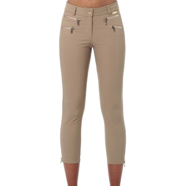 MDC 4way Stretch Double Zip Cropped Pants (chestnut)