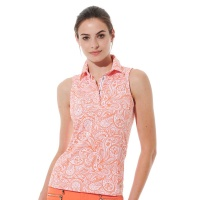 MDC Meryl Print Polo (papaya)