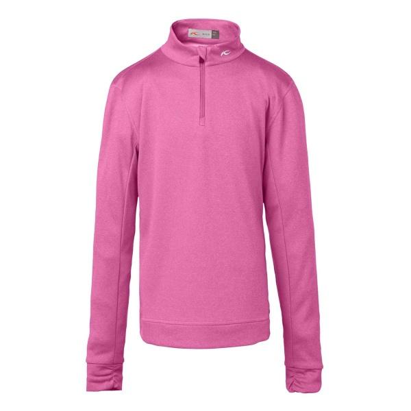 KJUS Girls Keano Half Zip (pink divine melange)