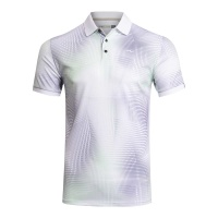 KJUS Spot Printed Polo (white/spring green)