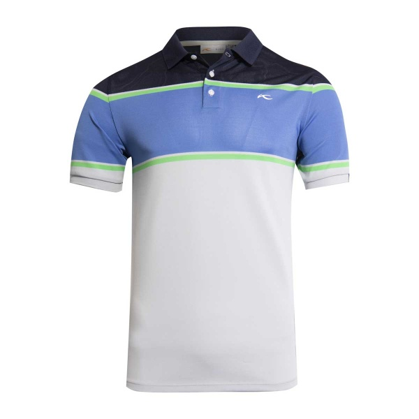 KJUS Luan Colorblock Polo (silver fog/waterfall)