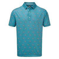 FootJoy Jersey Polo cocktail print(stormblue)