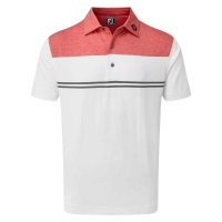 FootJoy Jersey Performance Polo color block (cap red)