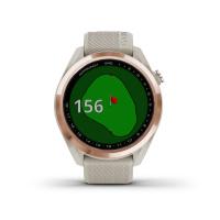 Garmin APPROACH S42 Golf-Uhr (Beige/Rosegold)