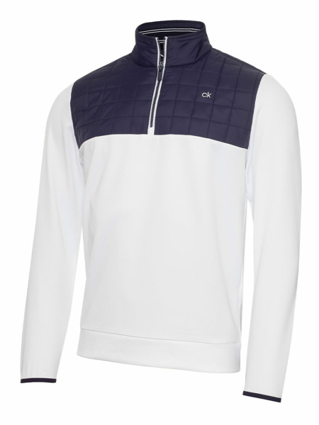 Calvin Klein Vardon Hybrid Half Zip (white)