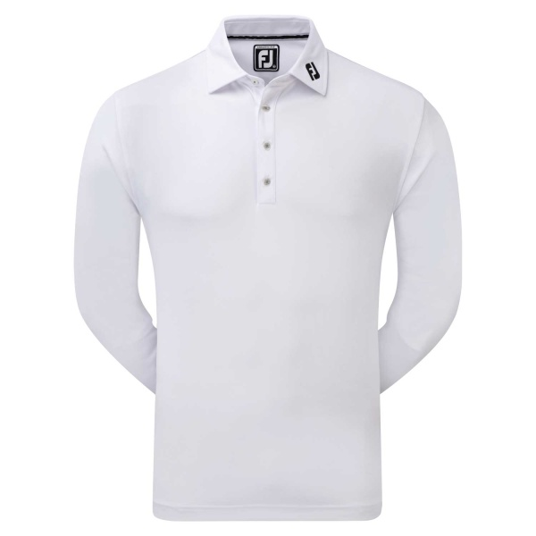 FootJoy Longsleeve Smooth Pique Polo (white)
